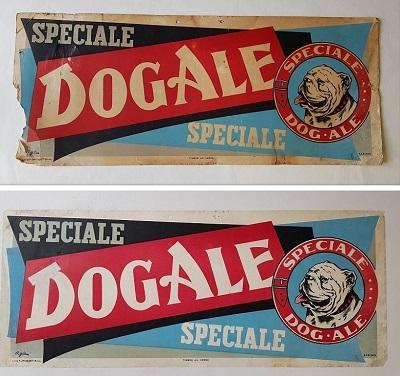 Restauration d'une affiche ancienne : Spéciale Dog Ale