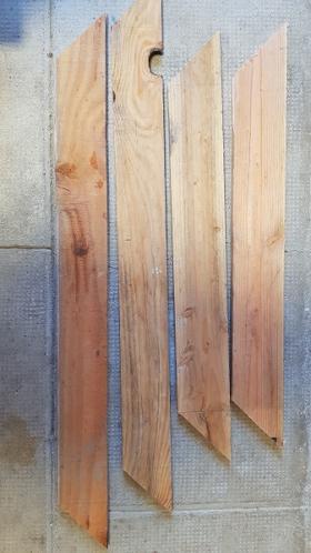 Récupération de planches de palette