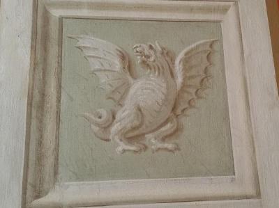 Une fresque à la chaux photographiée en Italie