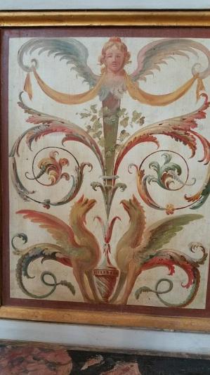 Fresque murale à la chaux photographiée à Pompéi