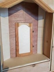 La plaque du fond, la mini porte et 2 plaques supplémentaires de biais
