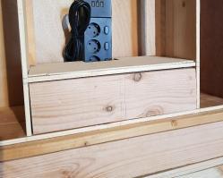 Le tiroir en place
