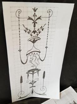Le motif photocopié et reproduit sur l'envers