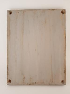 Enfin, le bois est peint