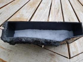 Sur les billes d'argile, l'ouate de filtration