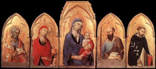 Simone Martini, polyptyque d'Orvieto, vers 1321 tempera sur bois
